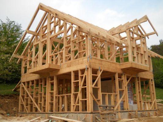 Timber Framed House Fenzel Pine Wood Frame House Framing