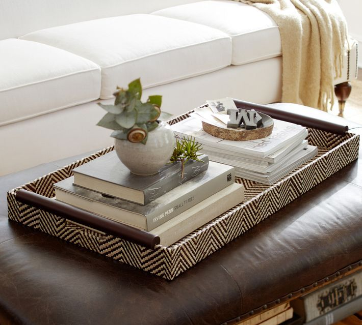 Decorative Trays For Ottomans Everything Looks Better With A Tray  Tray Decor Trays And Ottomans