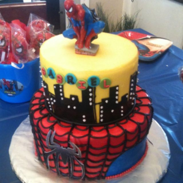 spiderman cake ideas Spiderman cake cakes Pinterest Super