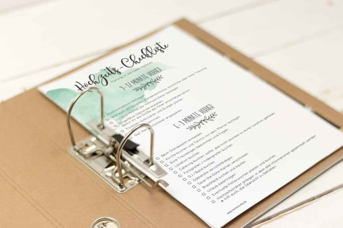 Hochzeits Checkliste Kostenlos Herunterladen Und Ausdrucken Diy