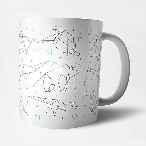Photo of By IWOOT Origami Dinosaur Mug