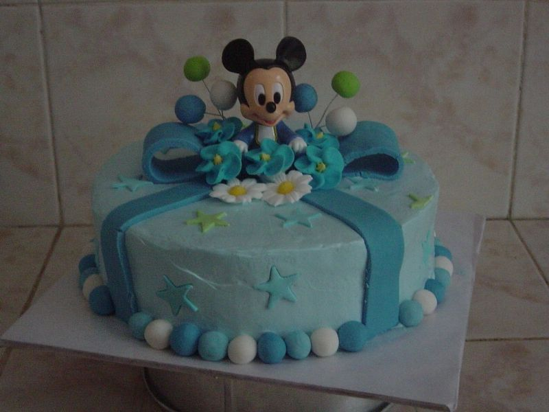 Mickey Mouse Baby Blocks Cake Free for All 1st Birthday