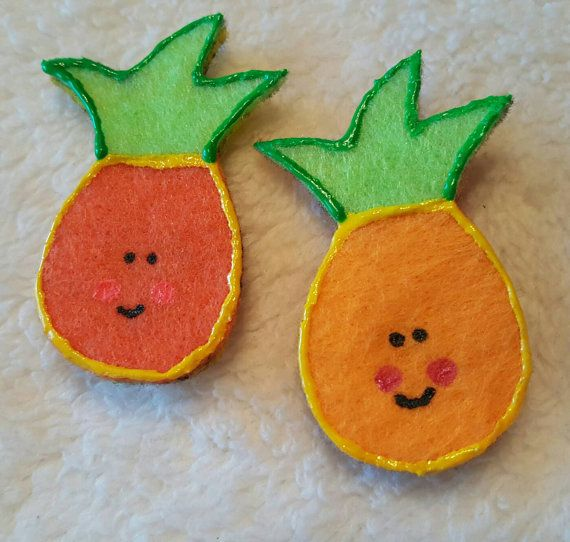 Check out this item in my Etsy shop https://www.etsy.com/listing/491735689/pineapple-felt-magnets-set-of-2-cute-and