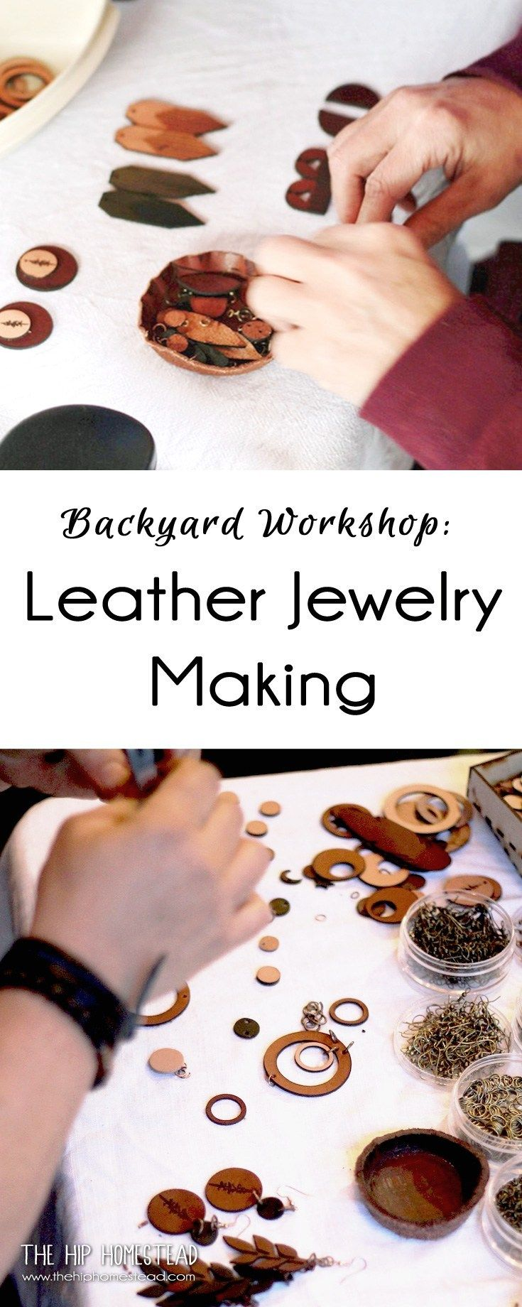 Photo of Leather Jewelry Workshop – The Hip Homestead