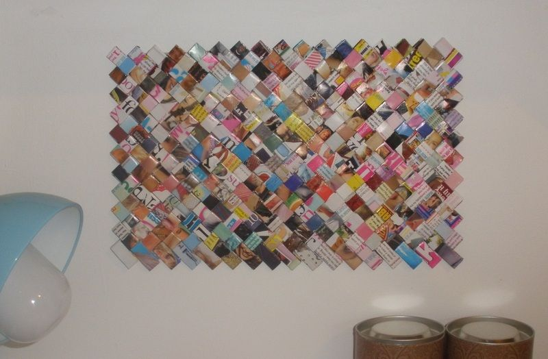 recycling projects | Recycled Magazine Wall Art ∙ Version by Ivana H. on Cut Out + Keep