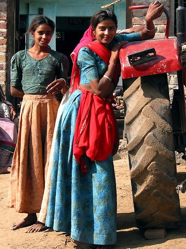 Village Girls  Mother India, Village Girl, India People-3694