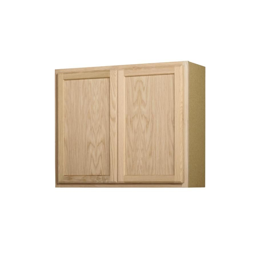 Project Source 36 In W X 30 In H X 12 In D Natural Unfinished Door Wall Stock Cabinet Lowes Com Stock Kitchen Cabinets Kitchen Wall Cabinets Wall Cabinet