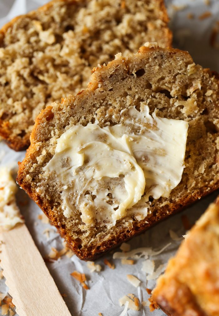 Toasted coconut banana bread recipe pinterest coconut banana toasted coconut banana bread moist soft and loaded with toasted coconut forumfinder Gallery