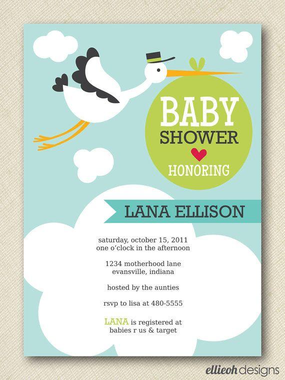 storkbabyshowerinvitePRINTABLE5x7digitalbyellieohdesigns – Stork Party Invites
