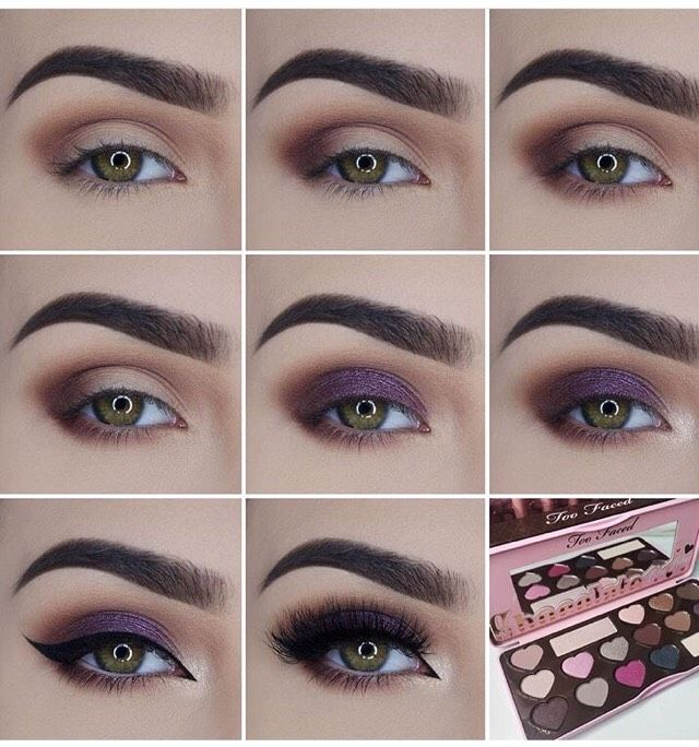 Beautiful Eye Makeup Pictorial By Using Two Faced Palate In 2018