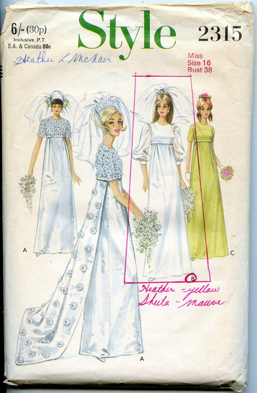 wedding dress train sizes