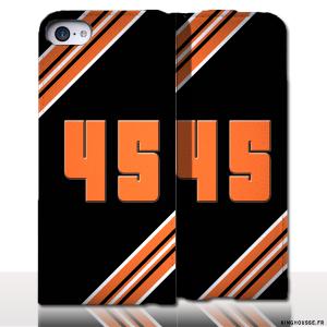 Protection iPhone 5 Cuir Numero - Personnalisez votre étui en cuir. #Numero #45 #cuir #Apple #iPhone5