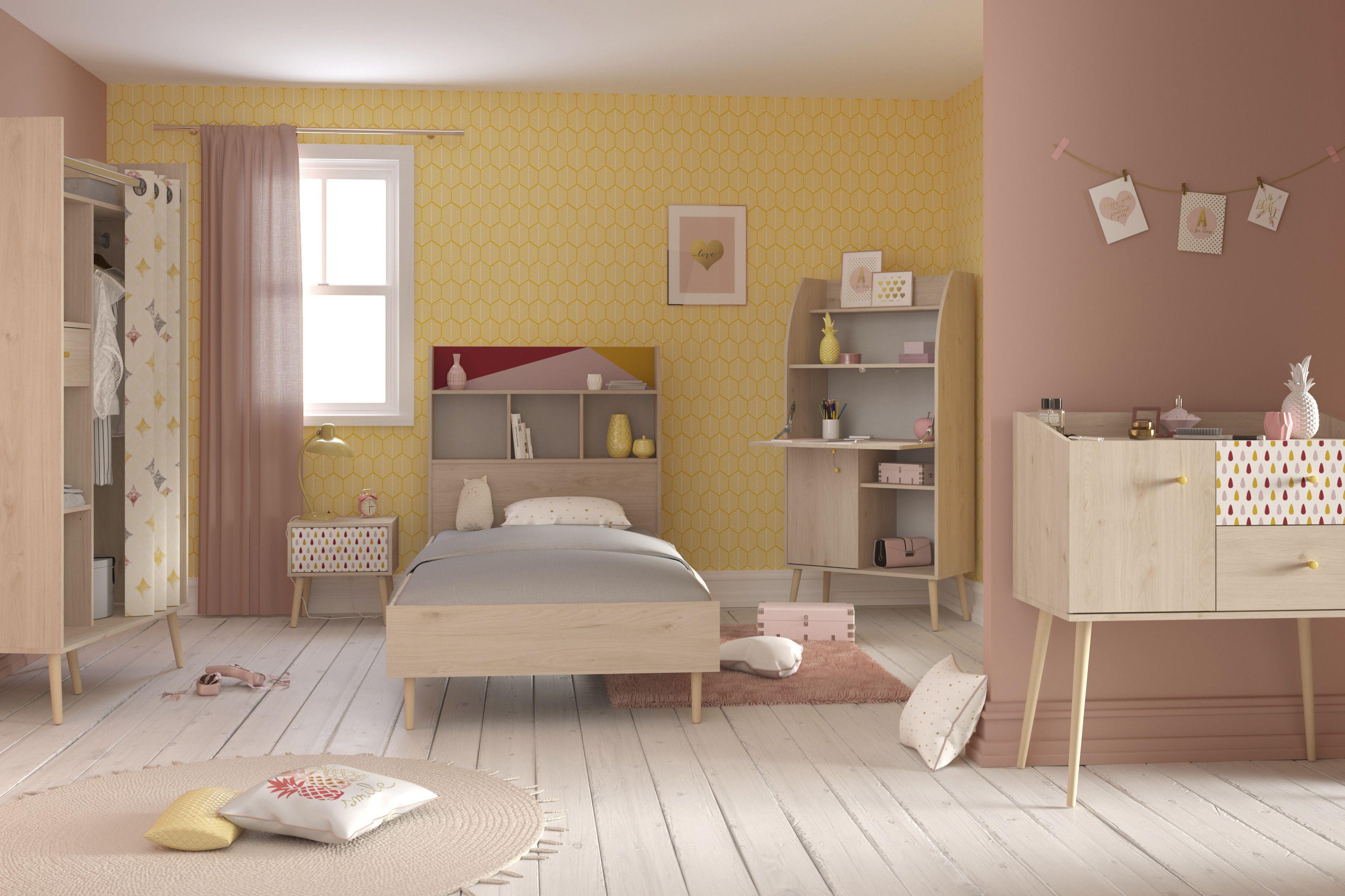 Chambre Enfant Hanna Decoree D Un Dessin Retro Emob Chambre Enfant Mobilier De Salon Decoration Maison