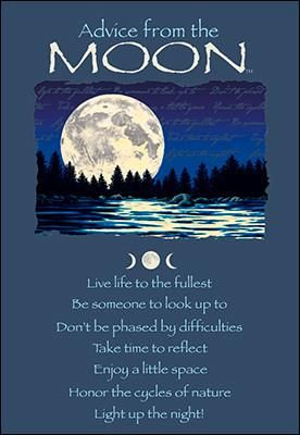 Advice from the moon greeting card birthday advice from nature advice from the moon greeting card birthday m4hsunfo