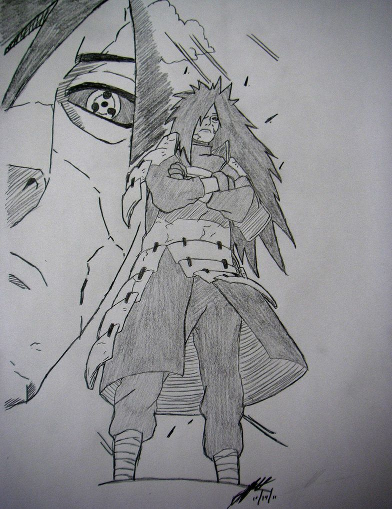 Madara uchiha drawing by thechiefassassin by thechiefassassin