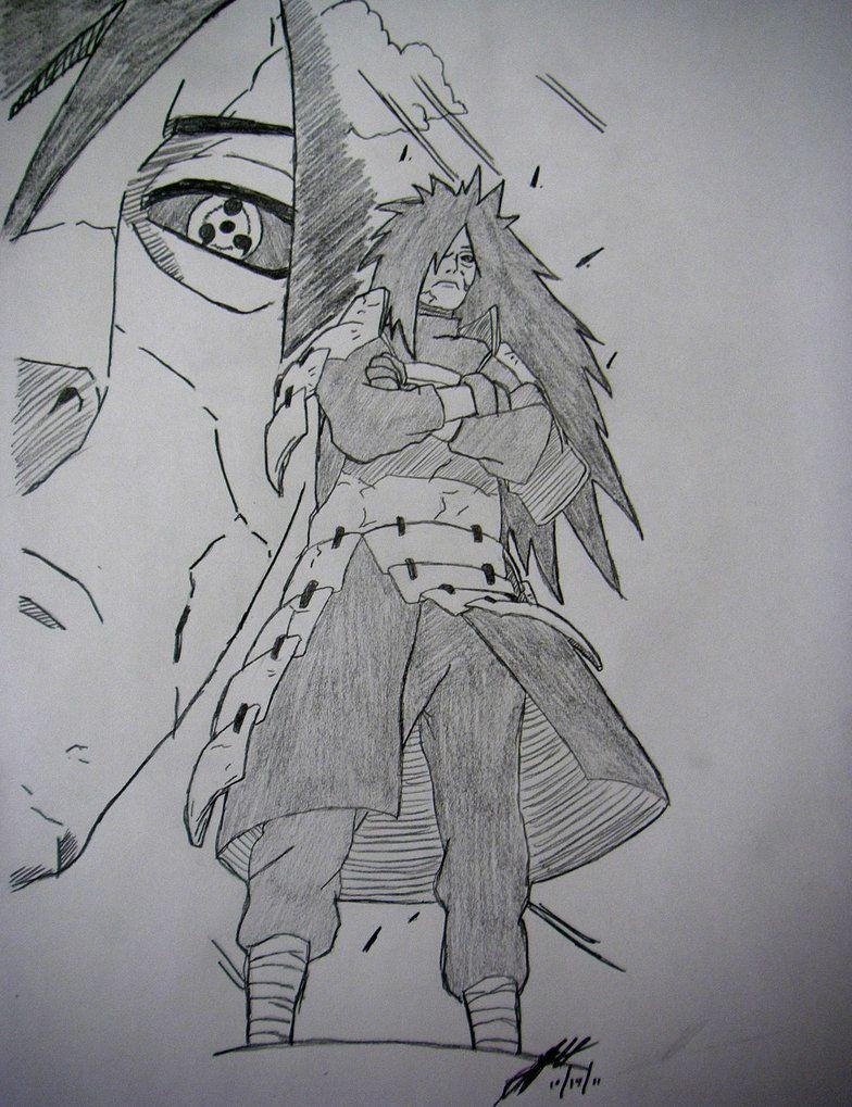 Madara Uchiha Drawing By TheChiefAssassin By TheChiefAssassin | Naruto | Pinterest | Naruto ...