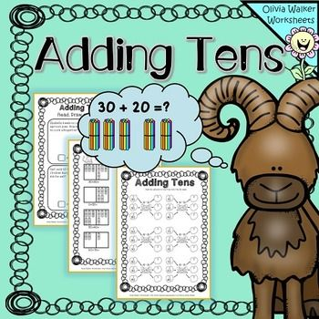 Adding Tens onto Two digit numbers - Worksheets / Printables for ...