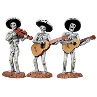 Lemax Spooky Town Figurine: Skeleton Mariachi Band.  GOTTA GET IT!