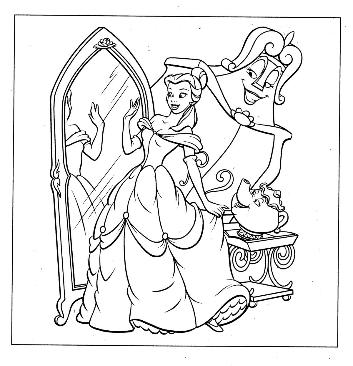 Disney Princess Coloring Pages To Printable