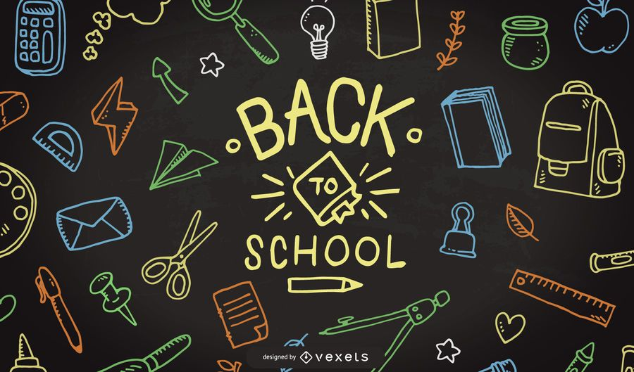 Back To School Doodle Background #AD , #AFF, #AFFILIATE, #Background, #Doodle, #School