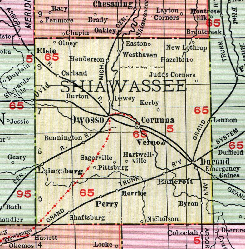 Shiawee County, Michigan, 1911, Map, Rand McNally, Owosso ... on st. louis kentucky map, sharp kentucky map, ky hwy map, rand mcnally home, lexington kentucky map, mapquest kentucky map,
