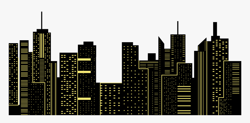 Transparent New York Skyline Silhouette Png Night City Png Png Download Is Free Transparent P New York Skyline Silhouette City Silhouette Skyline Silhouette