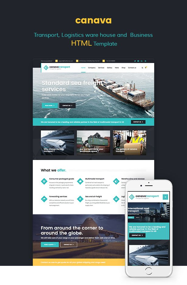 Canava logistics and business html template template mock up canava logistics and business html template download theme wajeb Image collections