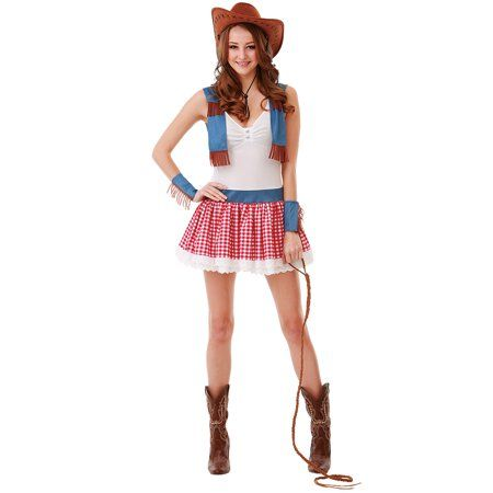 7f0ea05e843fb Boo! Inc. Country Cowgirl Halloween Costume for Women Sexy Wild West ...