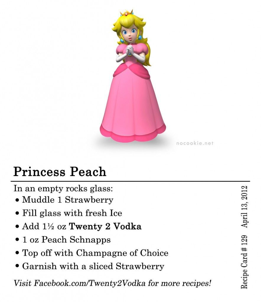 Princess Peach: #Vodka, Strawberry, Peach Schnapps, Champagne #vodkastrawberries Princess Peach: #Vodka, Strawberry, Peach Schnapps, Champagne #vodkastrawberries