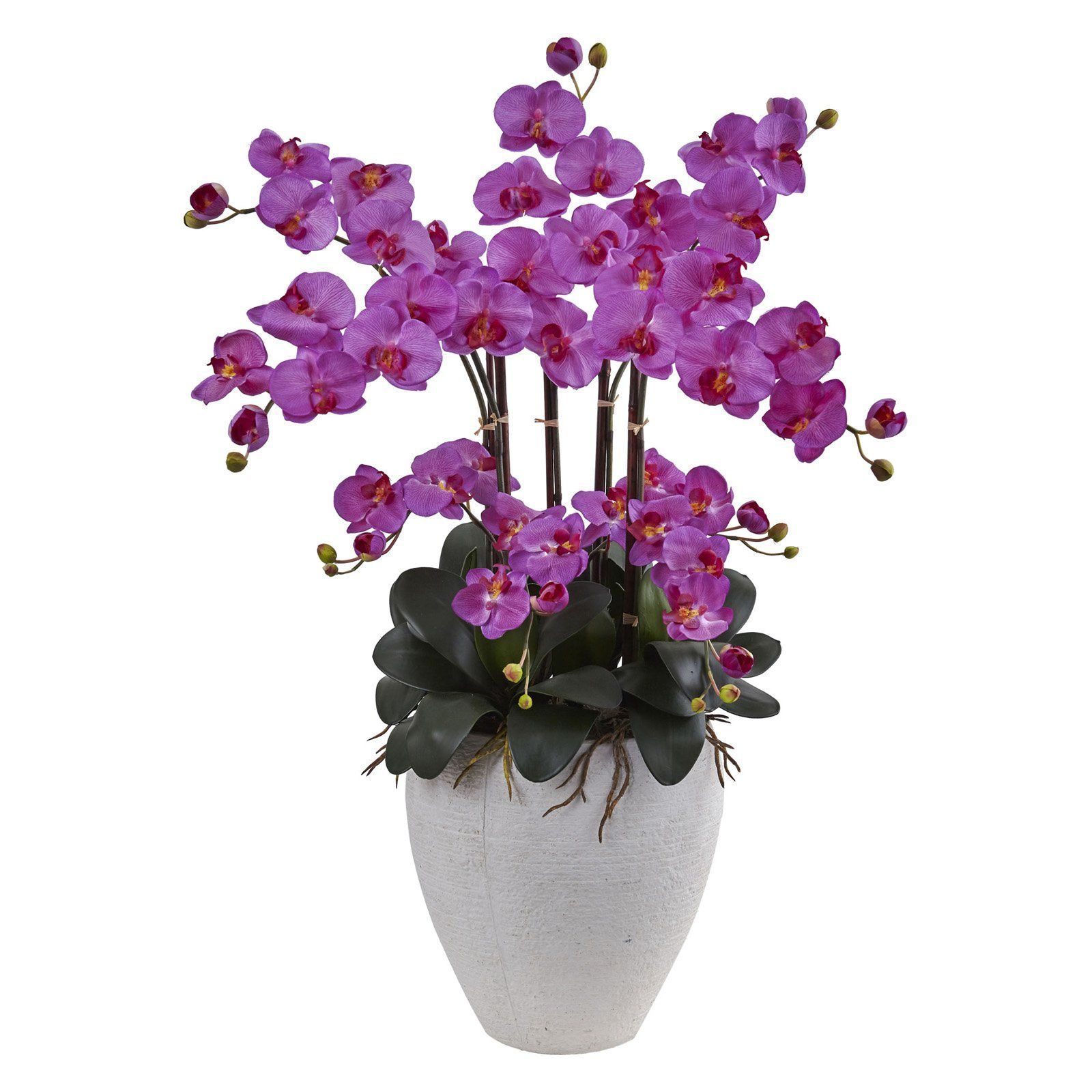 Nearly Natural Phalaenopsis Silk Orchid Flower 1420 Or Products