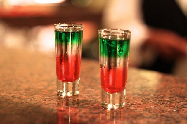 Mexican Flag Shots Mexican Flags Shots Alcohol Peach Schnapps