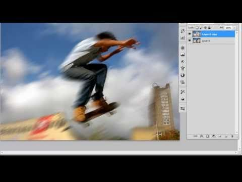 Motion blur photoshop