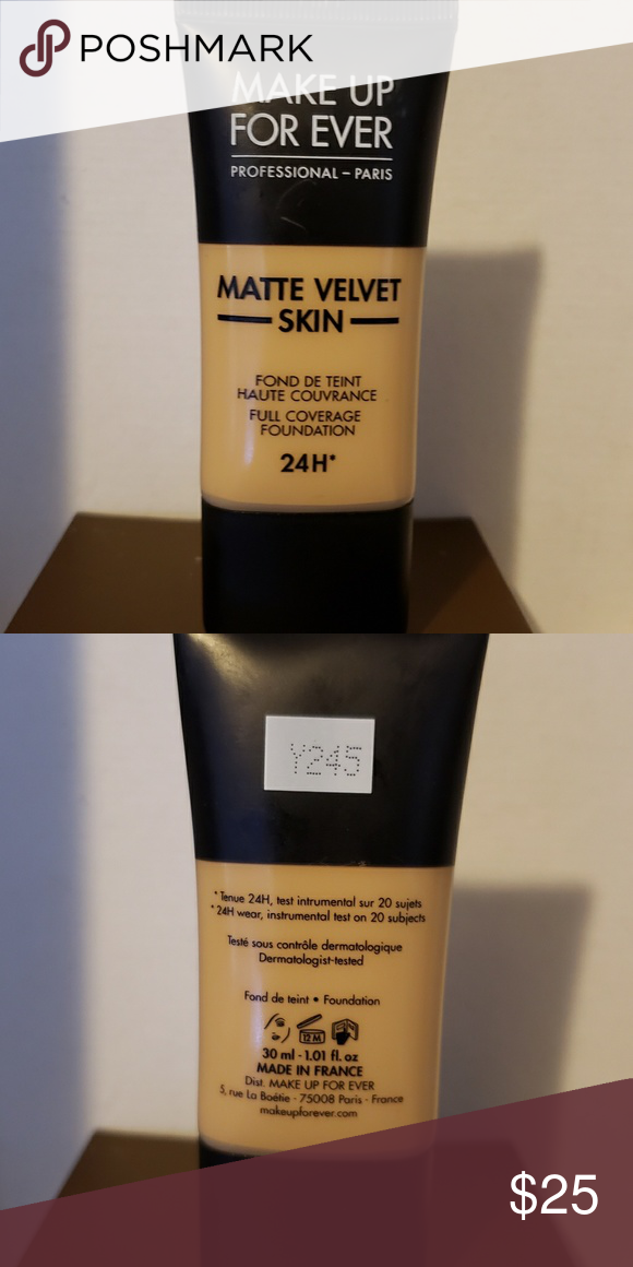 Makeup forever matte velvet foundation y245 Brand new