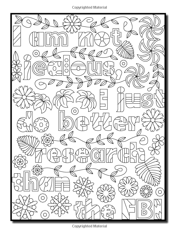 Amazon I Hate My Ex Boyfriend An Adult Coloring Book With Funny Romance Quotes Inspirational Sayings For Women And Relaxing Flower Patterns