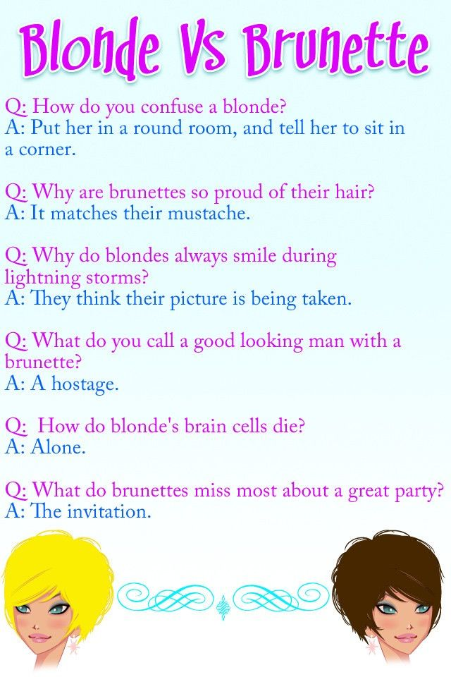 All It Is Saying Is Blondes Are The Best Dumb Blonde Jokes Blonde Vs Brunette Blonde Quotes