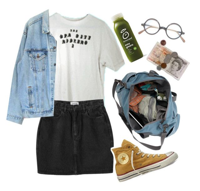 """Live"" by linneminne ❤ liked on Polyvore featuring Monki, Converse, Levi's, women's clothing, women, female, woman, misses and juniors"