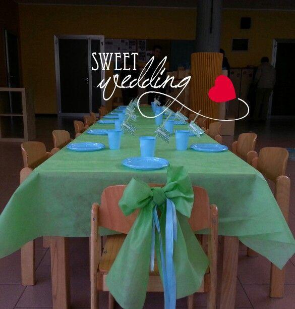 Tavola party Monster University organizzata da Sweet Party. La semplicità e lo stile ti conquisteranno. Contattaci.