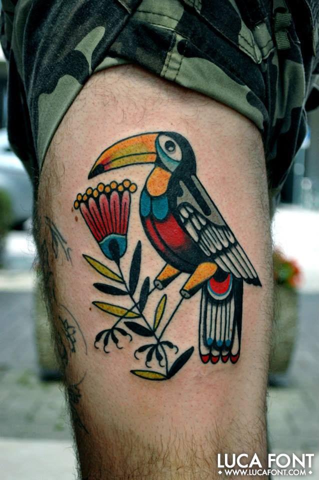 Tucano criollo. Luca Font Custom Tattooing