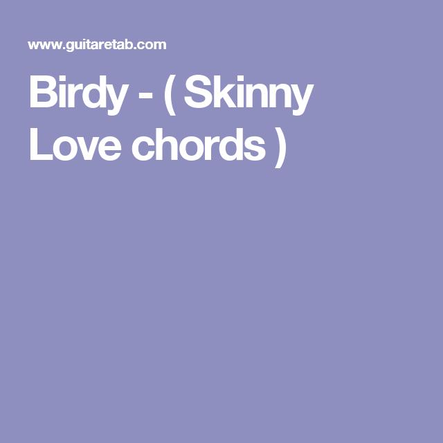Birdy - ( Skinny Love chords ) | ukulele | Pinterest | Ukulele songs ...