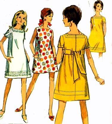 Vintage 60s Simplicity 7659 JIFFY Mini Shift Dress by sandritocat