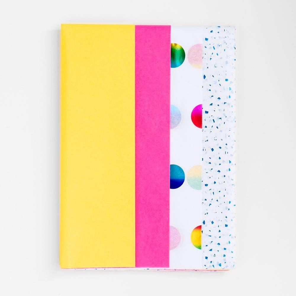 tissue paper in gift bag tutorial