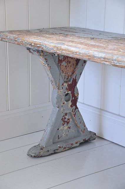 Excellent Bench From Old Sewing Table Legs Furniture Decor Home Gmtry Best Dining Table And Chair Ideas Images Gmtryco