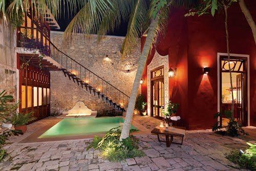 Casas Coloniales Con Patio Interior Buscar Con Google