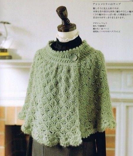 Classico Coprispalle A Forma Di Mantellina Crochet Crochet