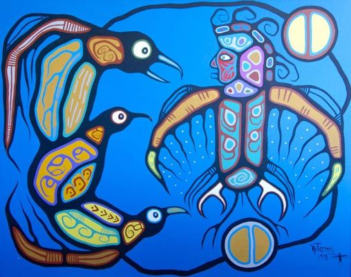 Thunderbird Child By Roy Thomas Aboriginal Painting Native