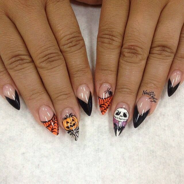 72 distinctive halloween inspired nail art ideas to complement easy halloween nails halloween fake nails halloween inspired nail art ideas halloween prinsesfo Images