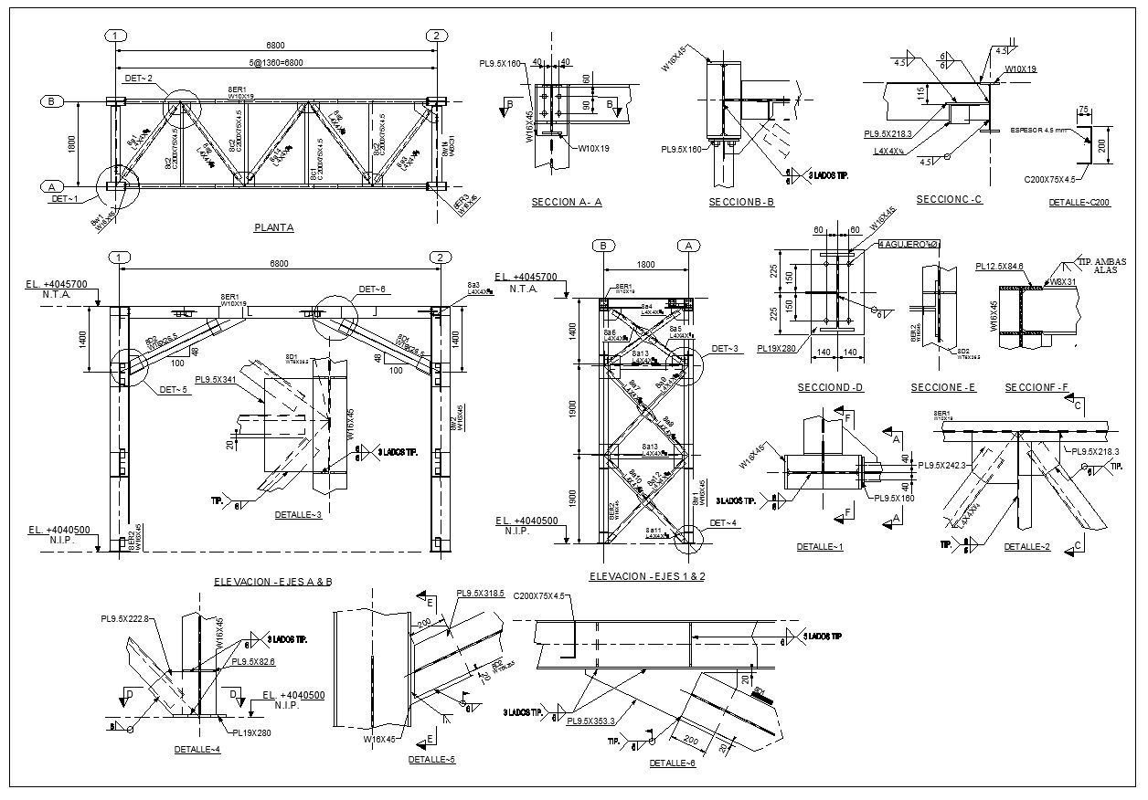 Pin on ☆【Download Steel Structure CAD Details 】☆