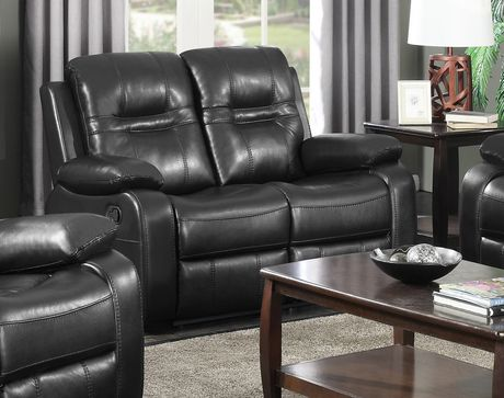 Astounding Brassex Inc Napolean Dual Recliner Love Seat Black Black 2 Gmtry Best Dining Table And Chair Ideas Images Gmtryco