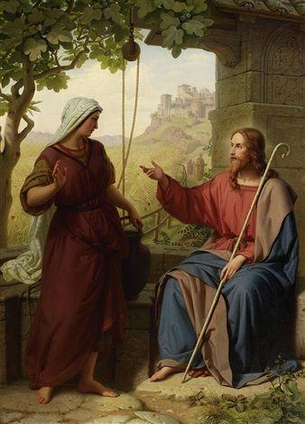 Franz Ittenbach (German, 1813–1879) Title: Christus und die Samariterin am Brunnen , 1854 Medium: oil on canvas Size: 124 x 90 cm. (48.8 x 35.4 in.)