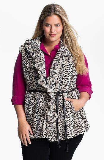 d6f4badfd1c00 Damselle Faux Fur Vest (Plus) available  Nordstrom